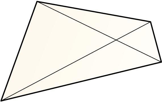 Lauki konbexua eta haren diagonalak