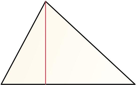 Triangeluaren altuera