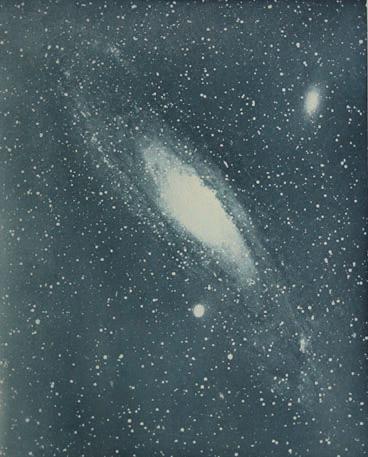 Isaac Robertsek 1888an egindako Andromeda nebulosaren argazkia (1899an argitaratua)